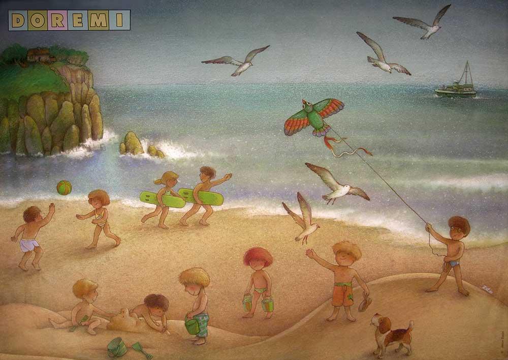 Poster infantil creado para la revista Doremi