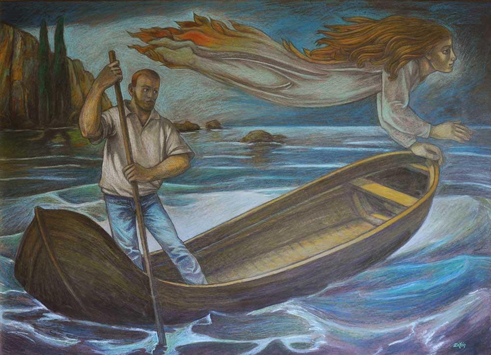 Cuadro El alma guía la barca