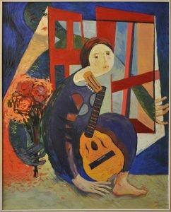 Ramon con flores Cuadro de 1977