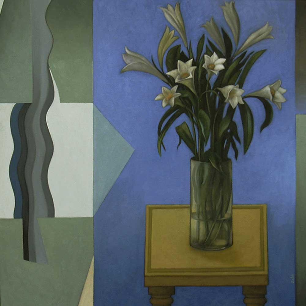 bodegon con flores cuadro pintado con acrilicos