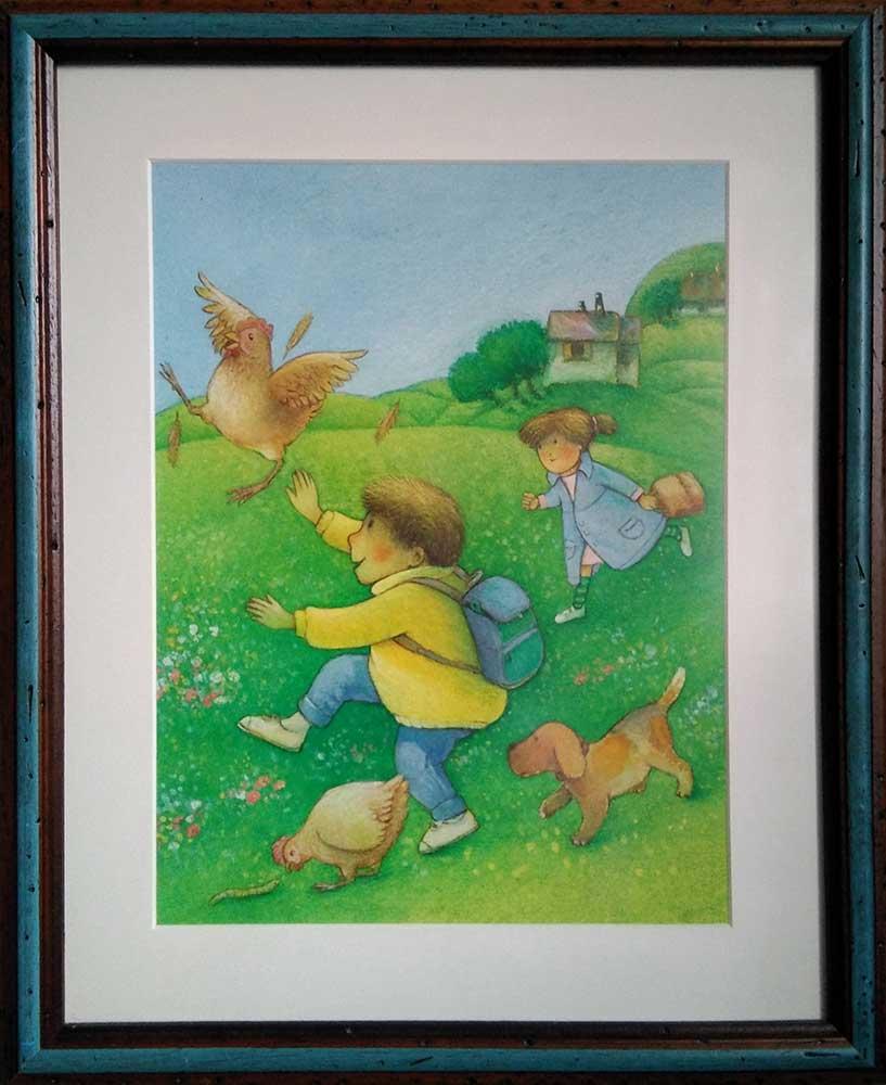 ilustracion infantil para la revista Tottoban