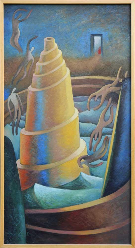 Torre mistica Cuadro en acrilicos