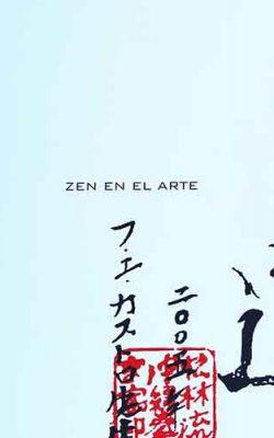 Portada del libro-catálogo sobre arte zen. La obra recoge textos sobre el zen de diversos autores y numerosas reproducciones de cuadros zen de Jesús Zatón. Ediciones Fundación Rosacruz